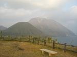 恋人岬から硫黄岳を望む